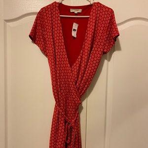 Loft size 12 wrap around dress